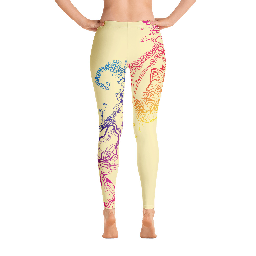 Back of Gymnastics Leggings with colourful decoration