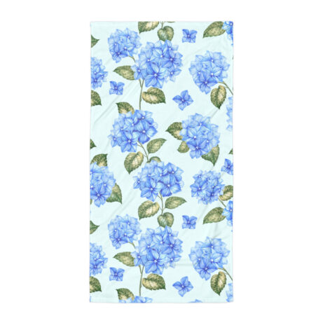 Gymnastics towel with flowers illustration