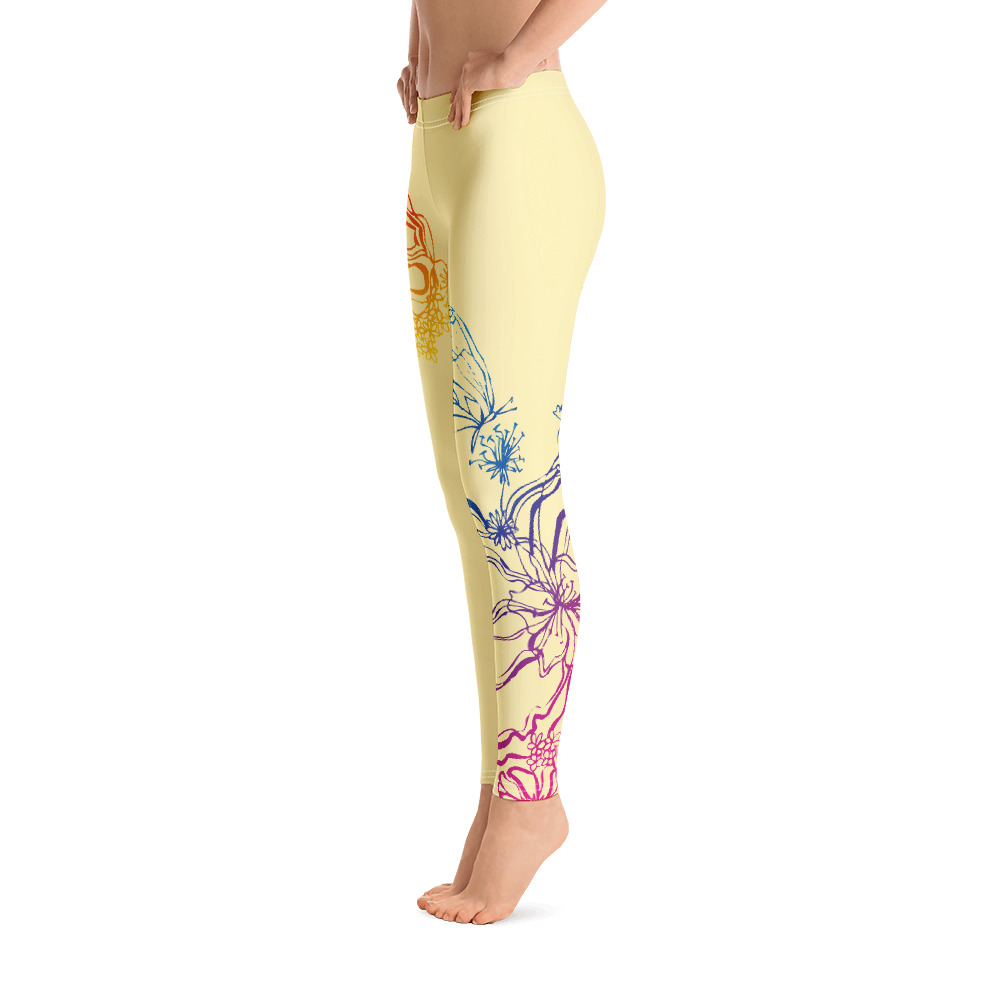 Side of Gymnastics Leggings with colourful decoration