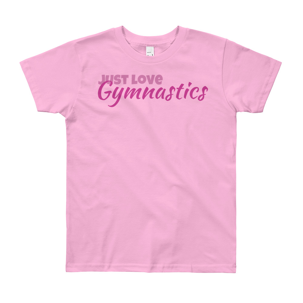 Gymnastics T-shirt with phrase Just love Gymnastics