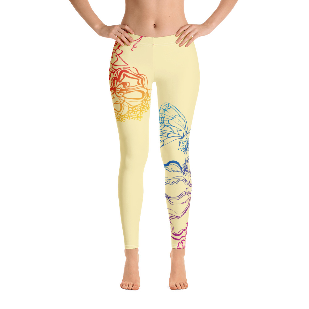Front of Gymnastics Leggings with colourful decoration
