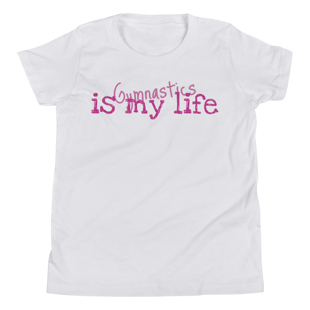 Gymnastics T-shirt with phrase Gymnastics is my life