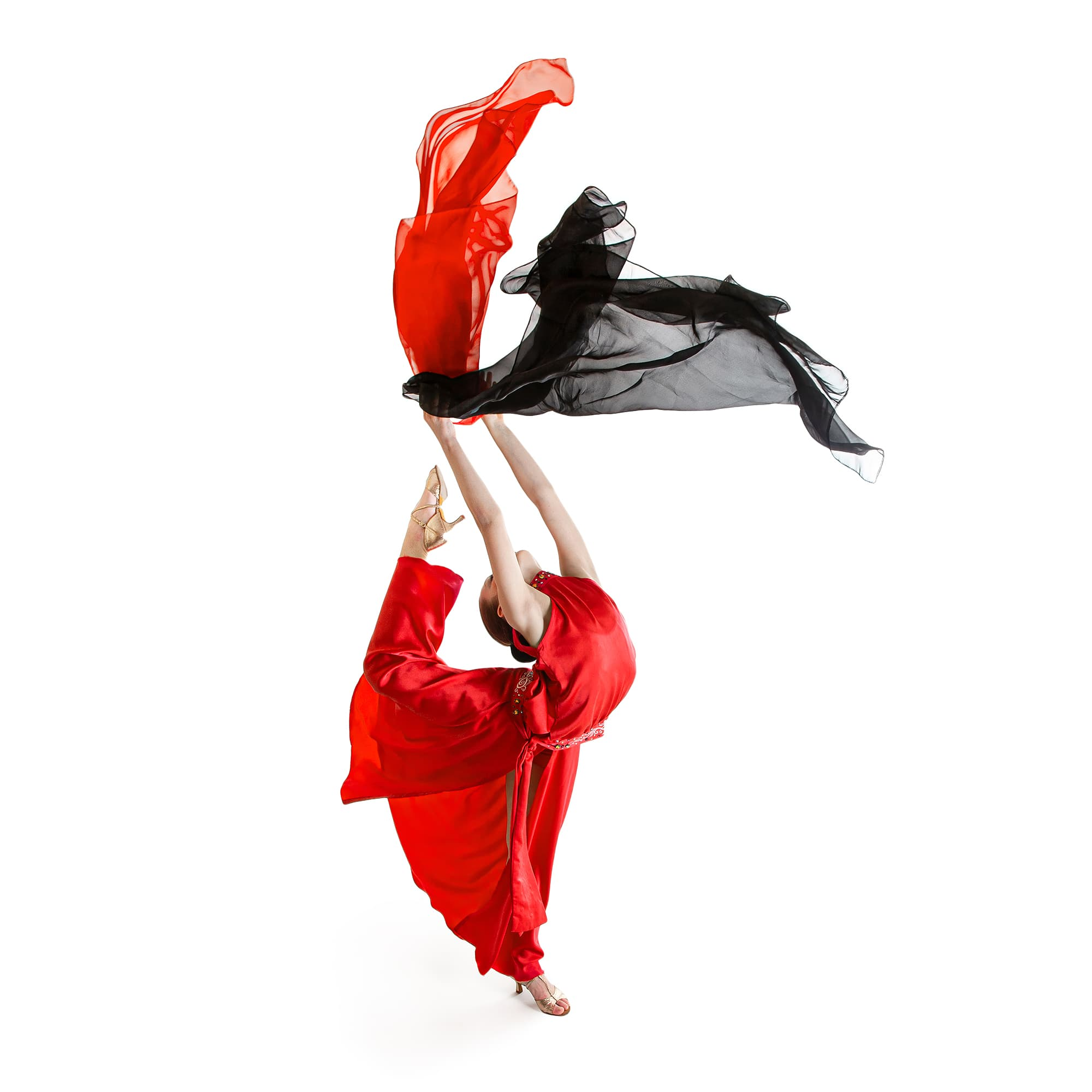 Amazing dance costume № 101 made in red & black colours