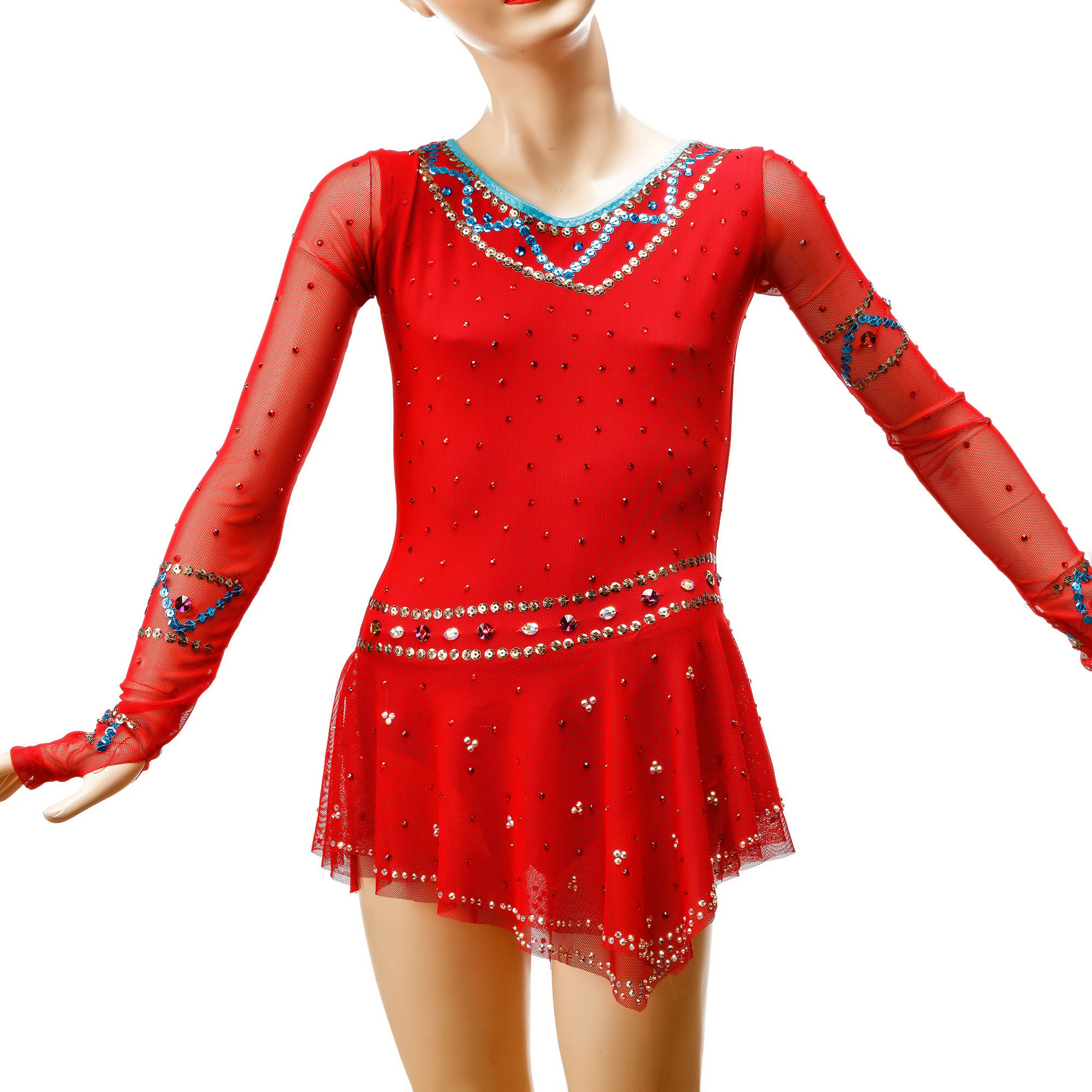 Red Ice Figure Skating Competition Leotard 131