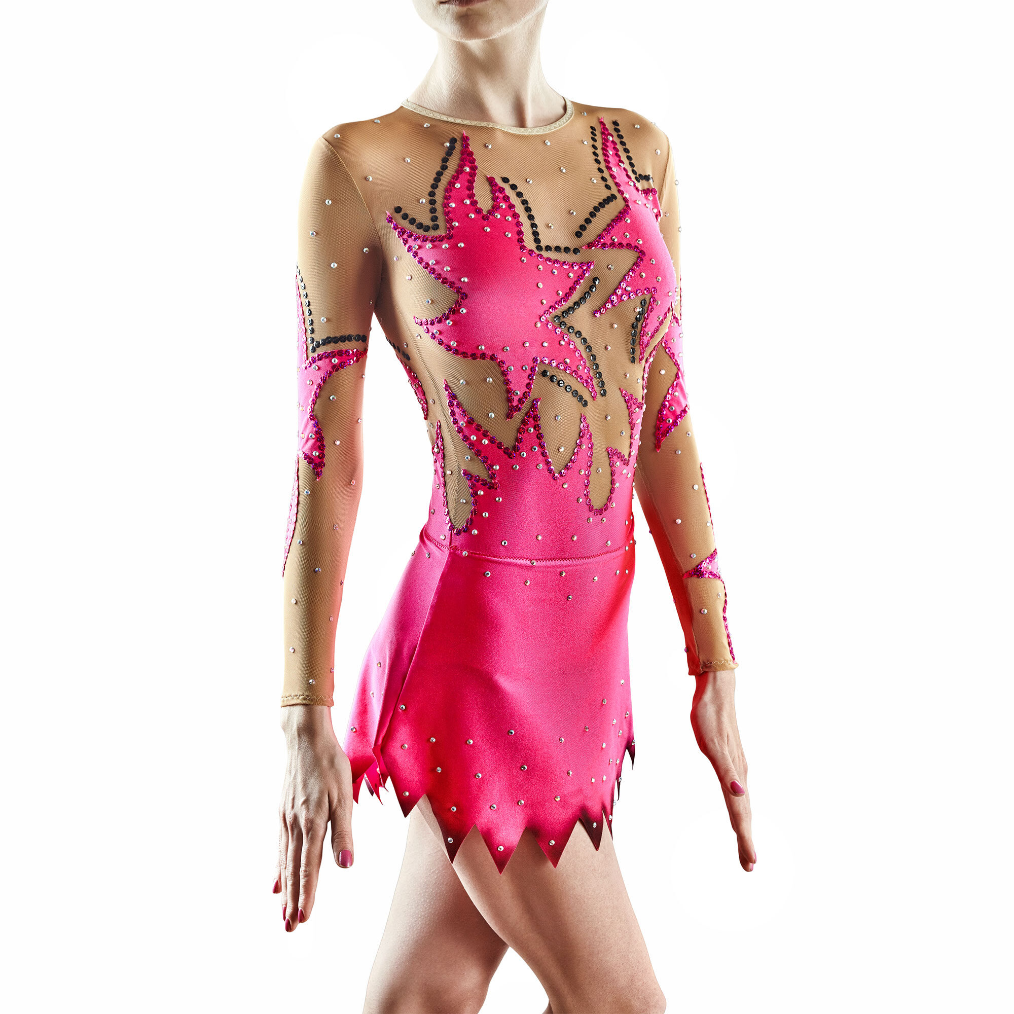 Coral Rhythmic Gymnastics Leotard 168 for competitions