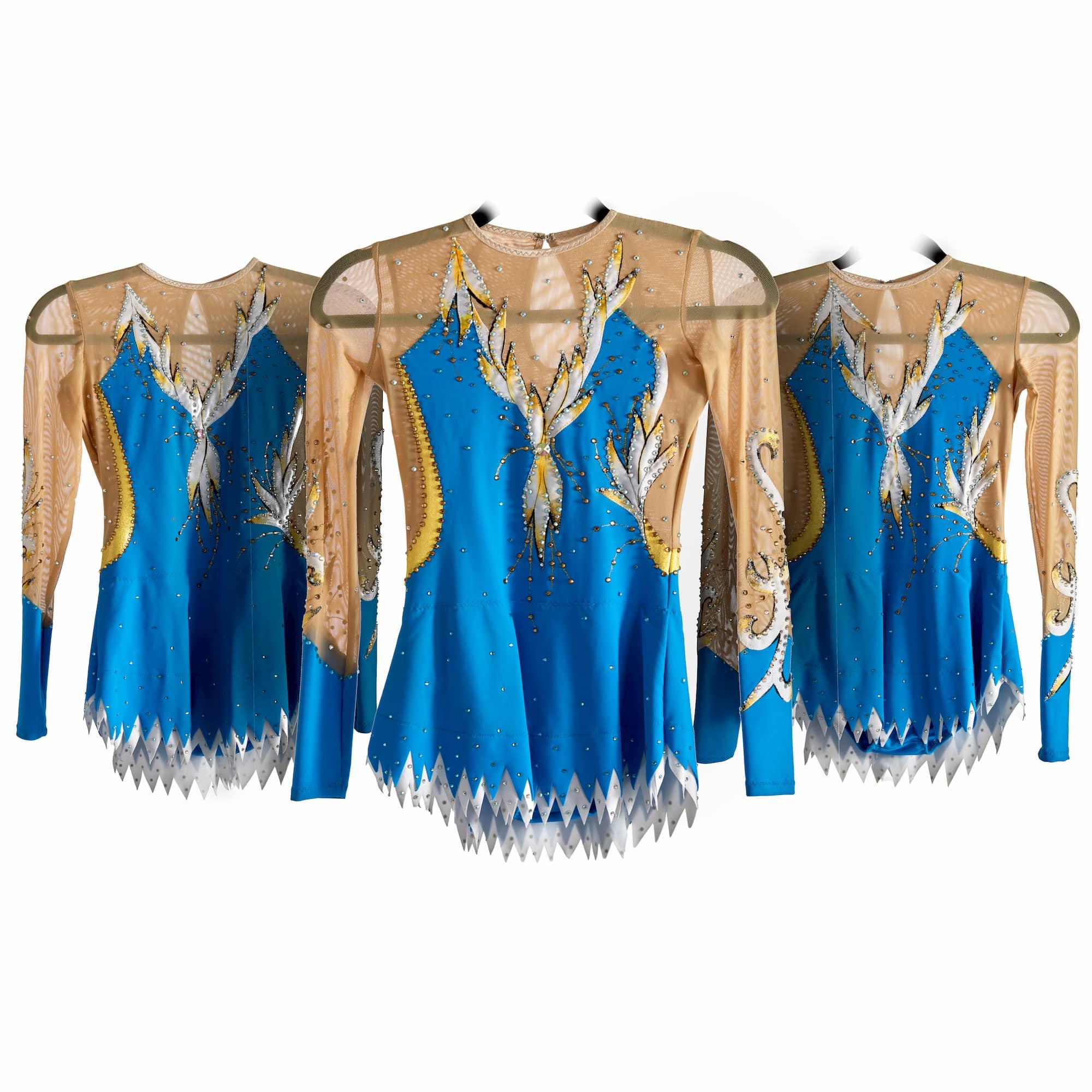 Stock Trio leotards № 236 for rhythmic gymnastics