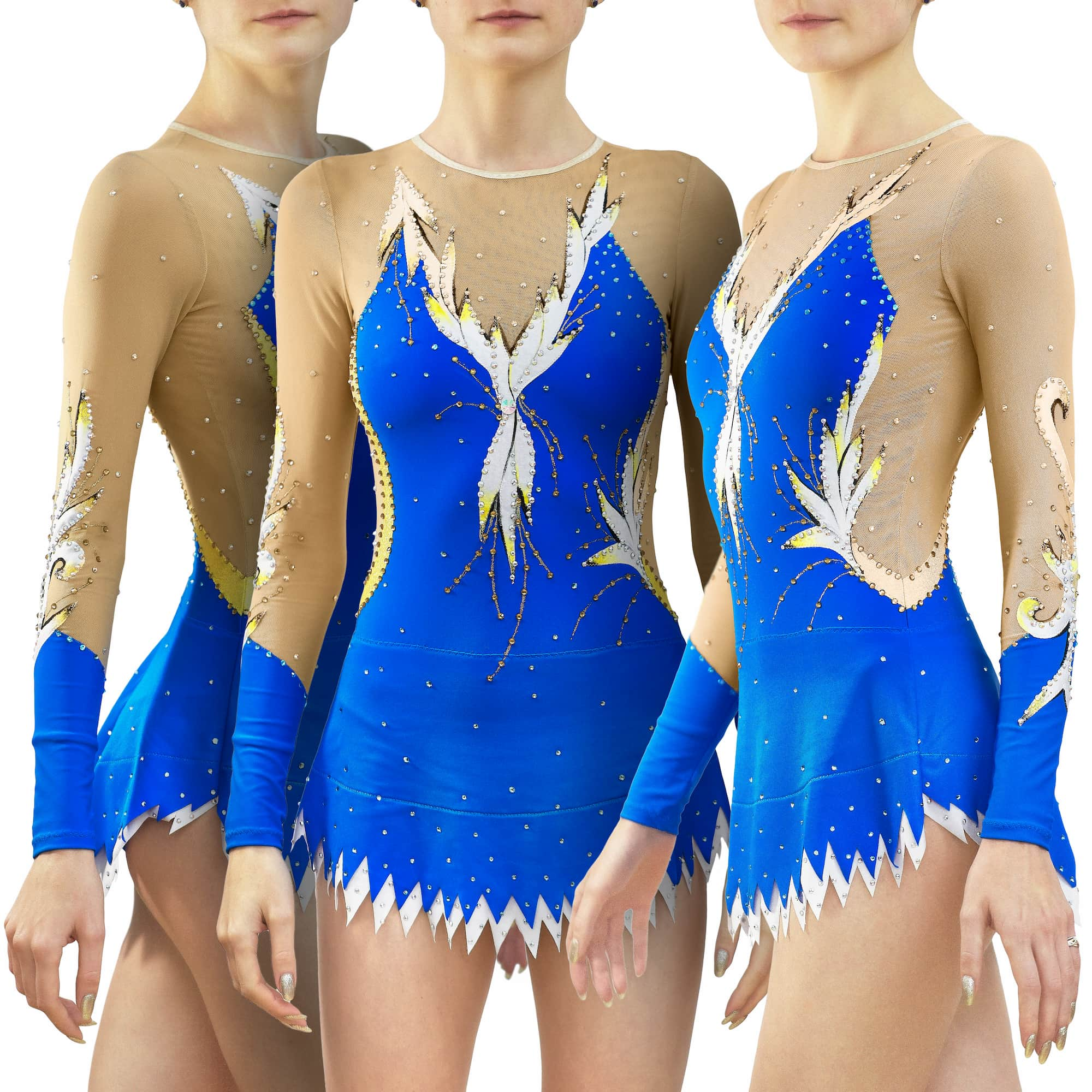 Stock Trio leotards № 236 for rhythmic gymnastics
