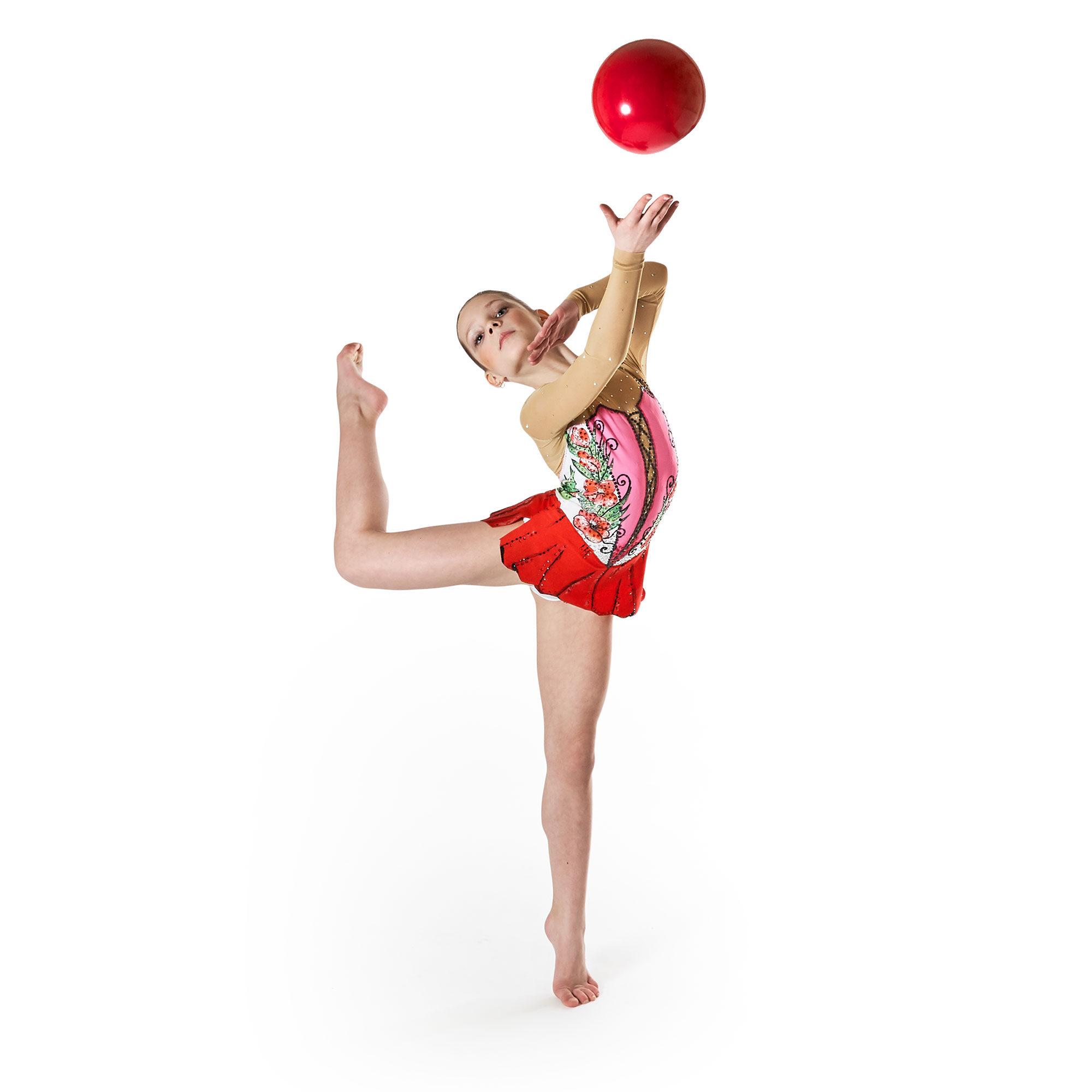 White, rose, red, green, black, mesh Rhythmic Gymnastics Leotard № 44 for competitions