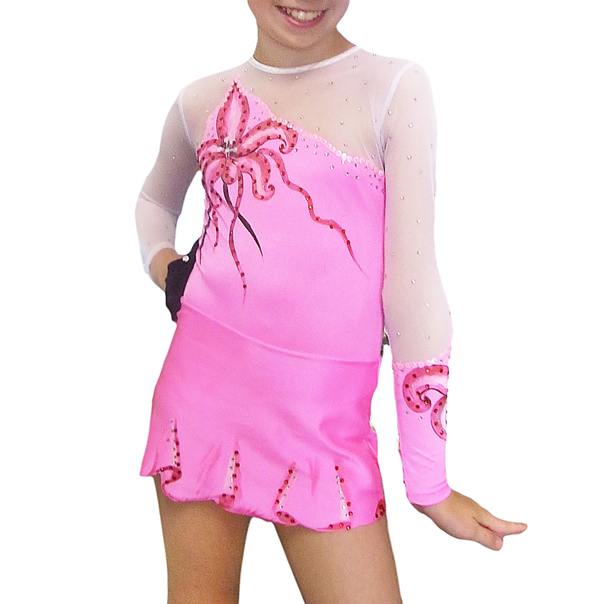Rose Rhythmic Gymnastics Leotard 51 made by gymnast's measurements for trainings and competitions