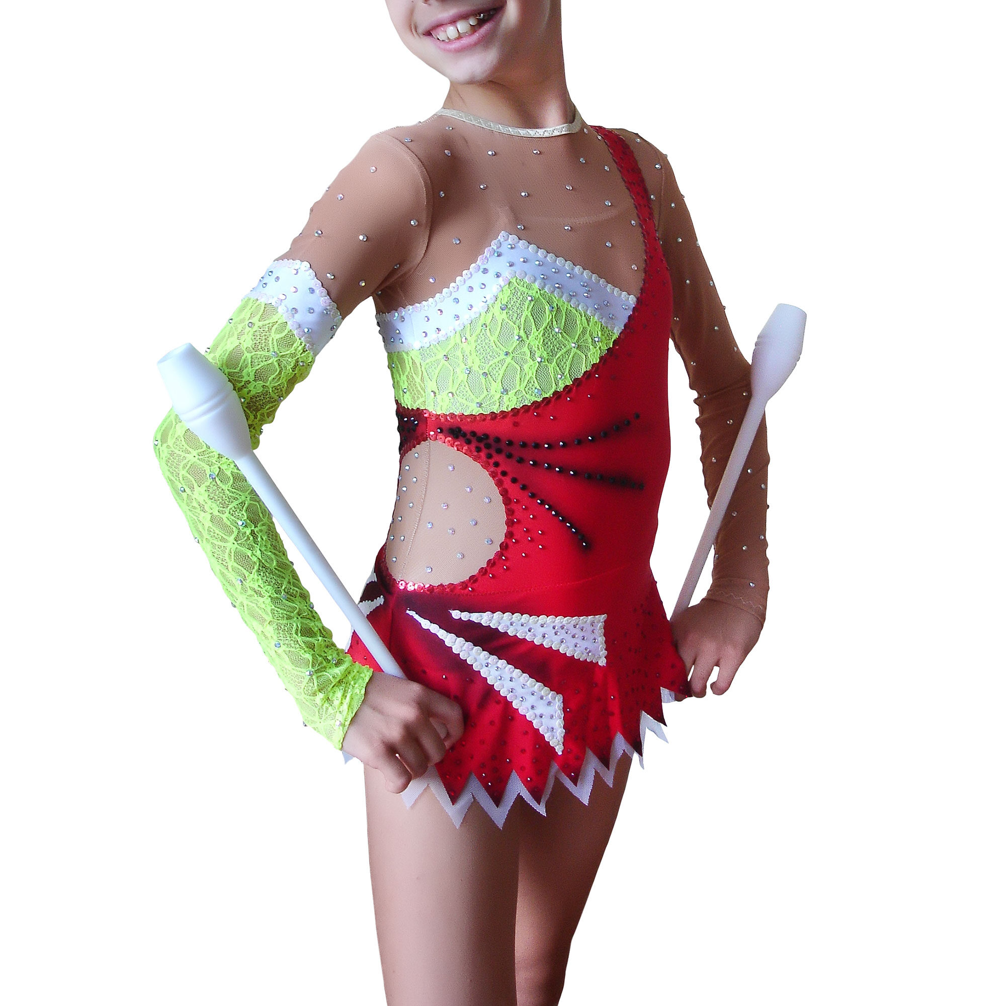 Rhythmic Gymnastics Leotard № 88 could be sewn as Dress Rhythmic Gymnastics, Ice Figure Skating Dress, Costume Acrobatic Gymnastics, Baton Twirling or Dance Leotard Suit. Decorated with lace and decorative accents