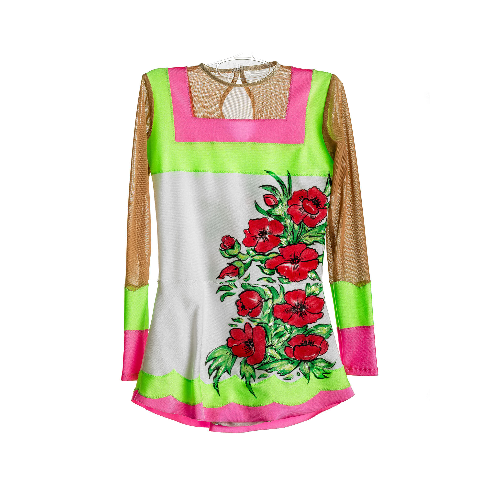 Stock leotard 15 with flowers